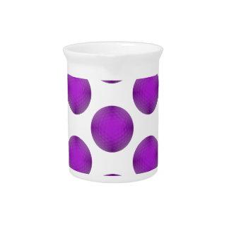 Purple Golf Ball Polka Dot Pattern Beverage Pitchers