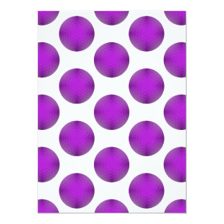 Purple Golf Ball Polka Dot Pattern Card
