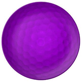 Purple Golfball Porcelain Plates