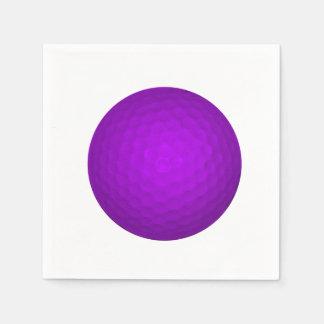 Purple Golfball Standard Cocktail Napkin