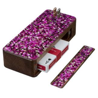 Purple Gomphrena Cribbage Board