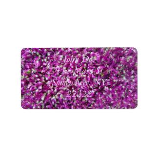 Purple Gomphrena Label