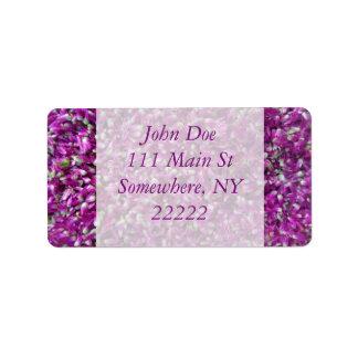 Purple Gomphrena Address Label