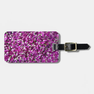 Purple Gomphrena Luggage Tag