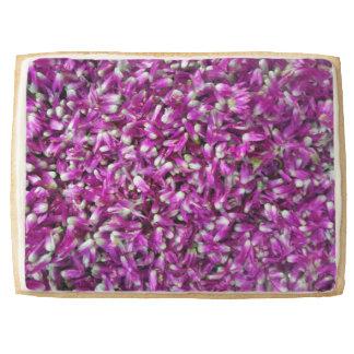 Purple Gomphrena Shortbread Cookie