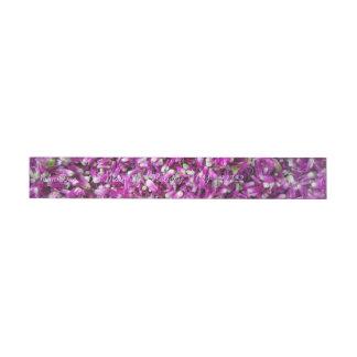 Purple Gomphrena Wrap Around Address Label