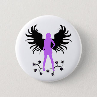 Purple Goth Angel button