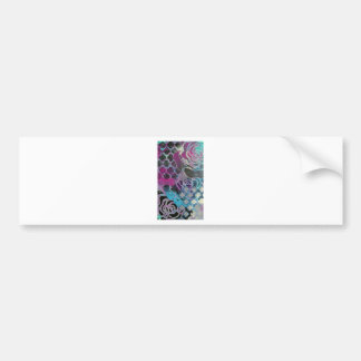 Purple gothic abstract painting pattern mysterious bumper sticker