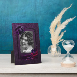 Purple Gothic Art Frame Plaque