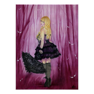Purple Gothic Girl Poster