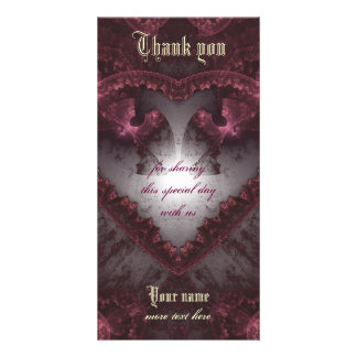 Purple Gothic Heart 001 Card