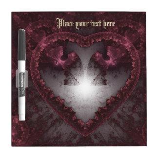 Purple Gothic Heart 001 Dry-Erase Board