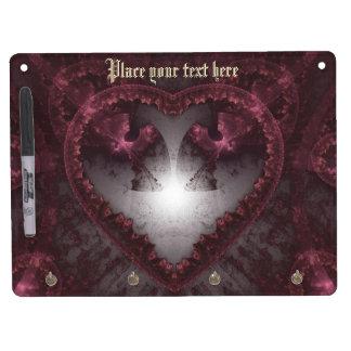 Purple Gothic Heart 001 Dry Erase Board With Keychain Holder