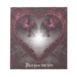 Purple Gothic Heart 001 Notepad