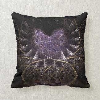 Purple Gothic Heart Cushion Pillow