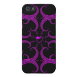 Purple Gothic Heart Fractal iPhone 5 Covers