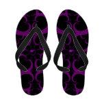 Purple Gothic Heart Fractal Sandals