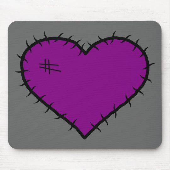 Purple Gothic Heart Mouse Pad