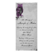 Purple Gothic Owl Posh Wedding Program