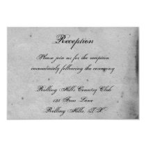 Purple Gothic Owl Posh Wedding Reception Card
