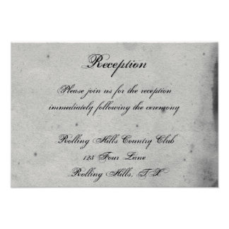 Purple Gothic Owl Posh Wedding Reception Personalized Invitation