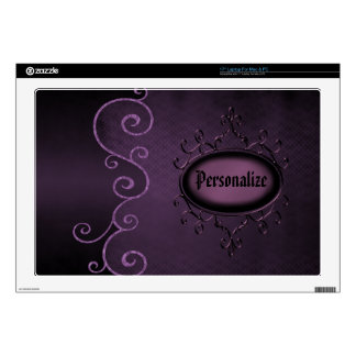 Purple Gothic Vintage Personalized Laptop Skin