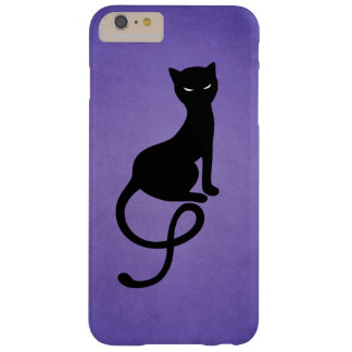 Purple Gracious Evil Black Cat Barely There iPhone 6 Plus Case