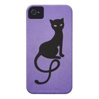 Purple Gracious Evil Black Cat Case-Mate iPhone 4 Cases