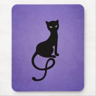 Purple Gracious Evil Black Cat Mousepad
