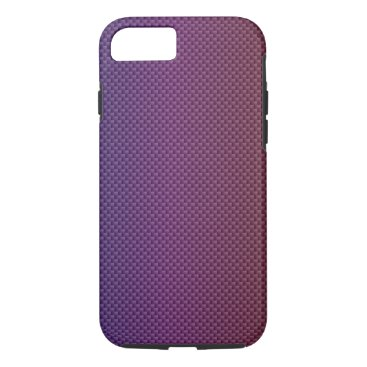 Beach Themed Purple Gradient Carbon Polymer Fiber iPhone 7 Case