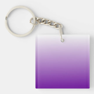Purple Gradient Double-Sided Square Acrylic Keychain