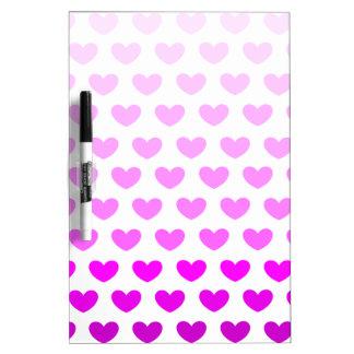 Purple Gradient Hearts Dry-Erase Board