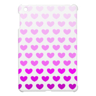 Purple Gradient Hearts iPad Mini Case