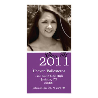 Purple Graduation 2011 Photo Card Invites