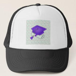 Purple Graduation Cap & Diploma, Colorful Diplomas