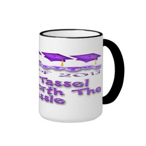 Purple Graduation Caps Mugs