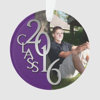 Purple Graduation Class of 2016 Photo Ornament