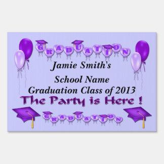 Purple Graduation Party Yard Sign