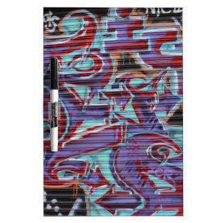 Purple Graffiti on Shutter Dry-Erase Whiteboard