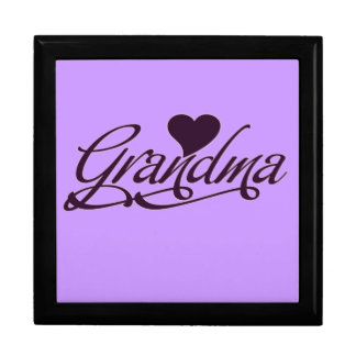 Purple Grandma Jewelry Box