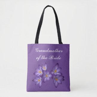 Purple Grandmother of the Bride Wedding Tote Bag