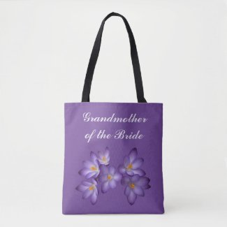 Purple Grandmother of the Bride Wedding Tote Bag