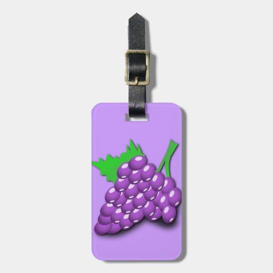 Purple Grape Cluster Bag Tag