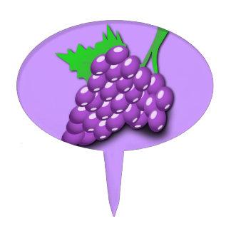 Purple Grape Cluster Cake Pick