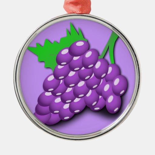 Purple Grape Cluster Ornament