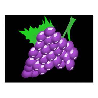 Purple Grape Cluster Postcard