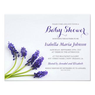 Purple Grape-Hyacinth   Floral Baby Shower Card