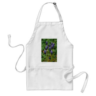 Purple Grape Hyacinth Wildflowers Adult Apron