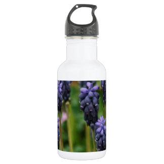 Purple Grape Hyacinth Wildflowers 18oz Water Bottle