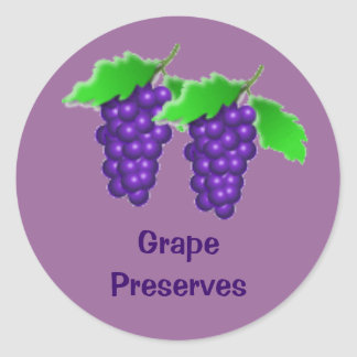 Purple Grape Jelly Preserves or Wine Canning Label